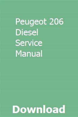 Peugeot 206 Diesel Service Manual Repair Manuals Toyota Solara Toyota Tercel