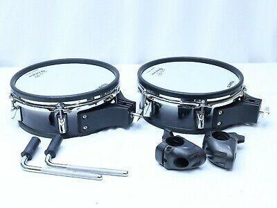 Two Roland Pd 105 Bk V Drum 10 Mesh Head Pd105 Vdrum Drums Music Instruments