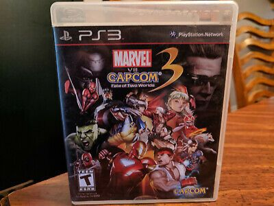 Marvel Vs Capcom 3 Fate Of Two Worlds For Playstation 3 Ps3 No Manual Marvel Movies Avengers Marvel Vs Marvel Vs Capcom Capcom