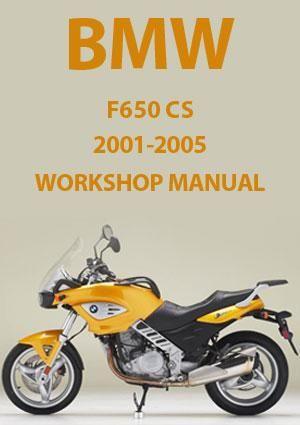 Bmw F650 Cs 2001 2005 Workshop Manual Bmw Workshop Manual Car