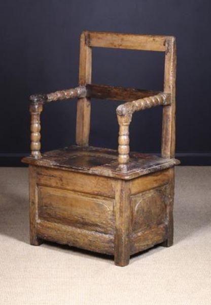 A 17th Century French Walnut Box Seated Armchair Or Fauteuil A Sel Armchair Walnut Rectangular