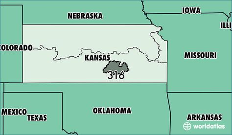 316 area code zip code kansas Where Is Area Code 316 Map Of
