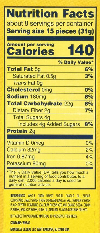 The updated Nutrition Facts label uses larger font for the