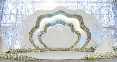 : V Concept by Misa Vu Luxury Events Cuong+My #misavuluxuryevents #MisaVu #Decorations #Angelic #Wedding #luxury #white #events #stage #aisle #architecture #party #space #sketch