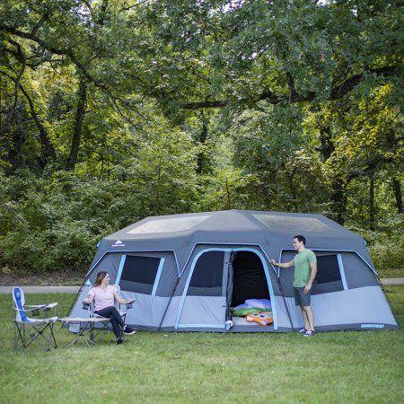 Ozark Trail 20 X 10 Dark Rest Instant Cabin Tent Sleeps 12 Walmart Com Cabin Tent Camping Room Tent