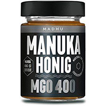 Manuka Honig 400 Mgo Im Hochwertigen Glas Direkt Vom Imker Aus Neuseeland Zertifizierter Methylglyoxal Gehalt 250g Inklusive Manuka Honig Honig Imker