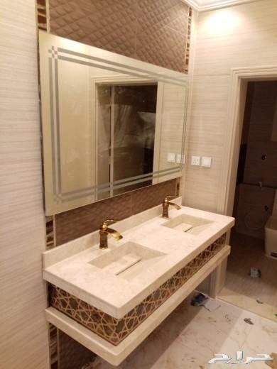 مغاسل رخام ومغاسل ديكور Lighted Bathroom Mirror Bathroom Mirror Bathroom Lighting