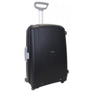 EU限定 サムソナイト フレームタイプ エアリス Mサイズ 68cm 64.5L 4輪 ブラック 無料受託手荷物サイズ 国内旅行 出張 スーツケース キャリーケース