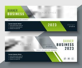 2023 Business Banners Vector Template
