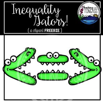 This 6 Piece Bundle Features Inequality Greater Than Less Than Equal To Alligator Mouths Feedback Isn T Required Mouth Clipart Clip Art Clip Art Freebies