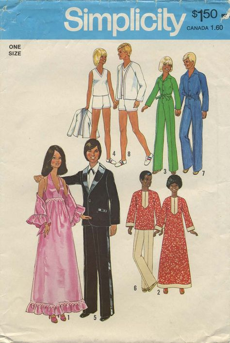 "Vintage Barbie™ Doll Clothes Sewing Pattern | Wardrobe for 11½"" dolls such as Barbie, Dusty™* and Skye™* and 12"" dolls such as Ken, Curtis and G.I. Joe 