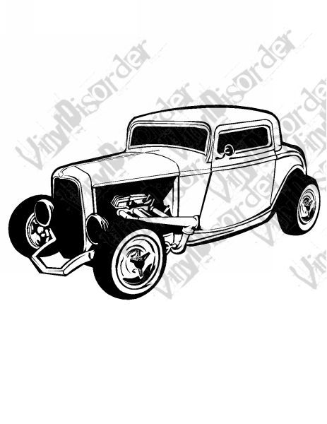 Hot rod model t hotrod american classics classic cars vinyl decal car window stickers 31 car window stickers and cars
