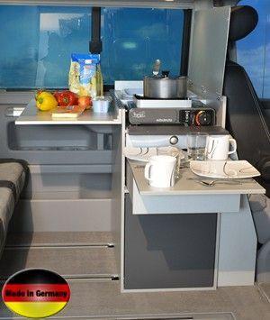 Vw T5 California Beach Campervan Custom Kitchen Pod Folding Table