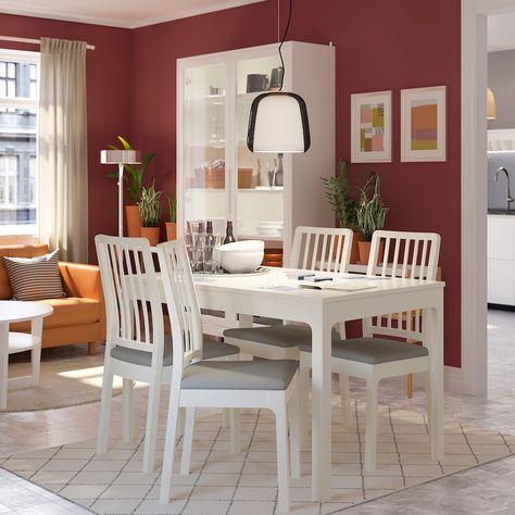Tavoli Da Cucina Allungabili Ikea.Ekedalen Tavolo Allungabile Bianco 120 180x80 Cm Tavolo