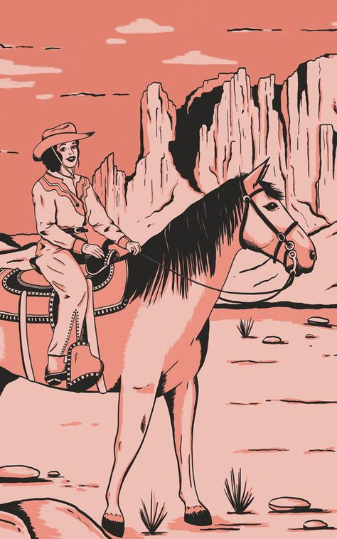 Introduce a cool new theme to your child's space that's inspired by the American Wild West with this cowgirl wallpaper. Cowgirl And Horse, Cowboy Art, Cowgirl Style, Western Wall, Western Theme, Western Style, Monument Valley, Horse Wallpaper, Of Wallpaper