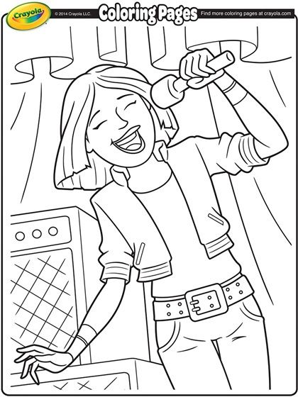 Coloring Poster Libraries Rock Lead Singer Coloring Page