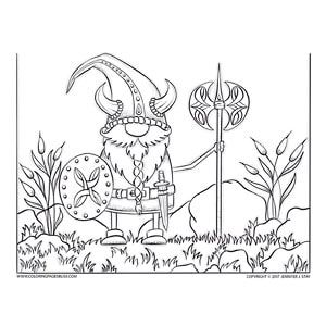 Adult Coloring Pages Coloring Pages Scandinavian Gnomes