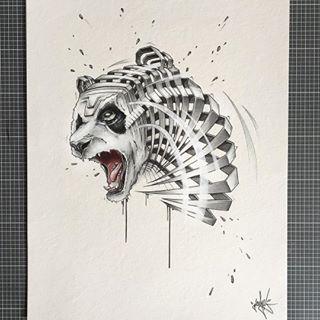 """Panda Slice"" 🐼Pimping old rough sketches part 2.#jayn #drawthisinmystyle #panda"
