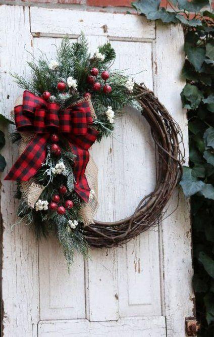 Farmhouse Front Door Wreath Etsy 51 Ideas For 2019 Winter Door Decorations Christmas Wreaths Christmas Door Wreaths