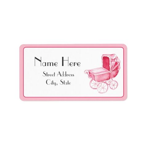 Baby Shower Address Label Buggy Theme Baby Shower Supplies - address label templates