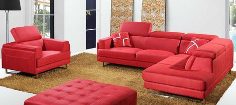 Fabric Sectional Sofa In Contemporary Design With Adjustable Head Rest Fabric Sectional Sofas Online Furniture Stores Furniture Store