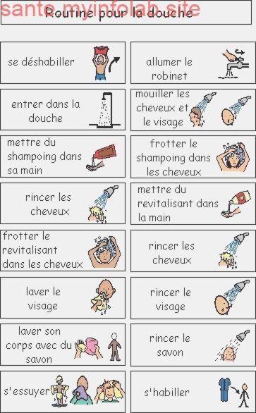 Routine Pour La Douche Pictogramme Routine Pictogramme Enfant Routine Enfant