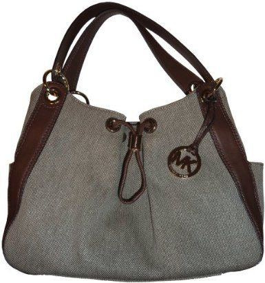 Michael Kors Purse Handbag Ludlow Large Canvas Shouder Bag