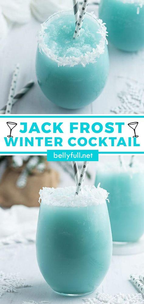 Liquor Drinks, Cocktail Drinks, Blue Alcoholic Drinks, Blue Drinks, Sweet Cocktails, Cocktail Ideas, Christmas Drinks, Holiday Drinks, Alcohol Drink Recipes
