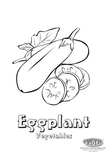 Eggplant Outline Food Hero Blackline Illustration Eggplant