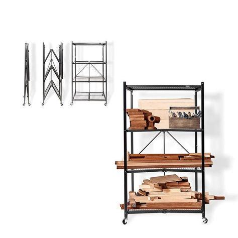 Amazon.com: Origami 4-Shelf Foldable Storage Shelves | for Garage ... | 474x474