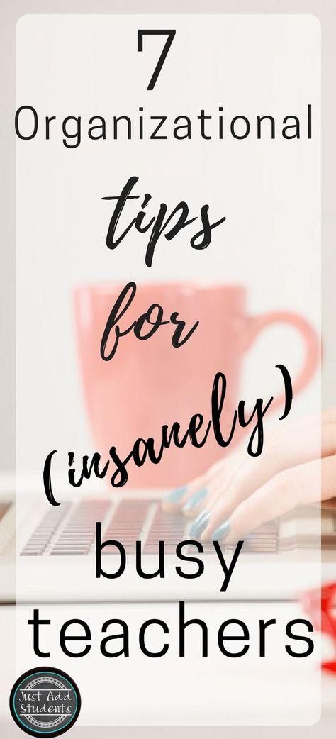 7 organizational tips for teachers