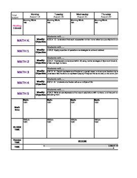 Best Common Core Lesson Plan Templates Images On Pinterest - Otes lesson plan template