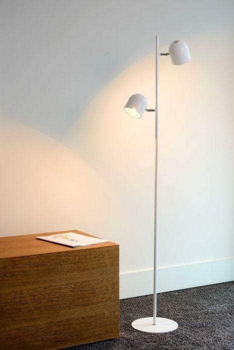 Lucide Vloerlamp Skanska 2 Lichts Dimbare LED Wit