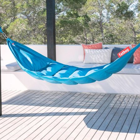 Lie Back And Relax In The Fatboy Headdepleck This Modern Foldable And Portable Hammock For One Comes With Wall Fittings And Portable Hammock Hammock Lounger