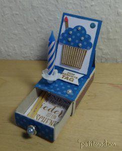 Matchbox, Karte mit Kerze