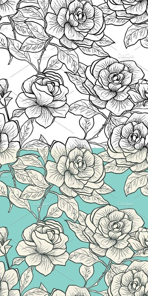 Rose pattern. Patterns #flowerpatterndesign Rose pattern. Patterns
