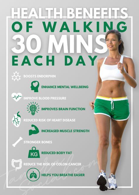 10 Health Benefits of Walking 30 Minutes Each Day