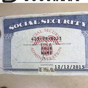 Social Security Card 04 In 2020 Social Security Card Card Template Bill Template