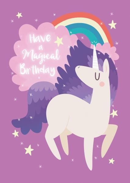Send The Perfect Greeting Card Order Online It S Sent Today Unicorn Illustration Unicorn Wallpaper Unicorn And Fairies