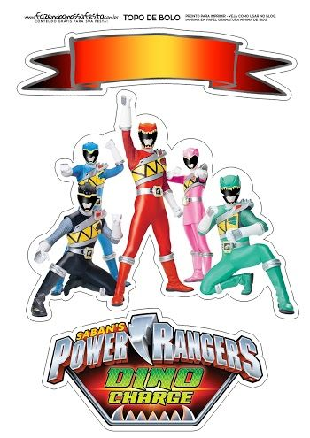 Power Rangers Free Printable Cake Toppers Power Ranger Cake Power Ranger Birthday Power Rangers Dino Charge Birthday