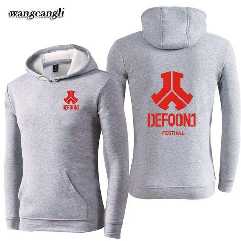 Defqon.1 Festival Autumn Men/'s Zip Hoodie Sweatshirt Jacket Coat Outerwear Thick