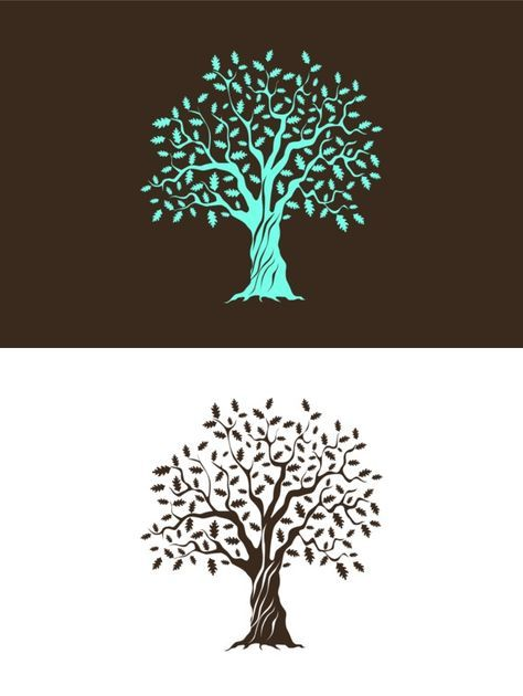 Vector Oak Tree Silhouette Oak Tree Tattoo Oak Tree Silhouette Oak Tree Drawings