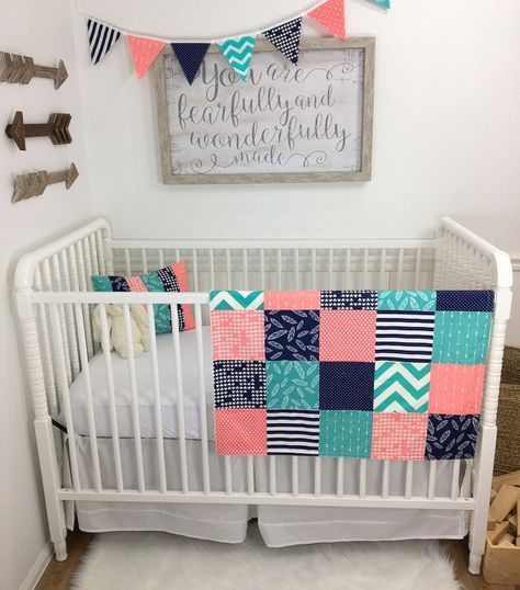 Baby Girl Blanket Minky C, Girl Aztec Nursery Bedding