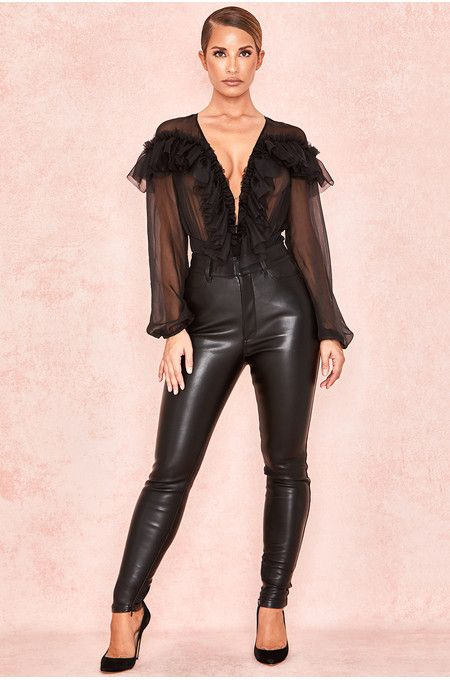 Advanced Search Search Results House Of Cb Be Obsessed Brit Designed Bandage Bodycon Dresses Black Leather Pants Bandage Dress Bodycon Stretch Pants
