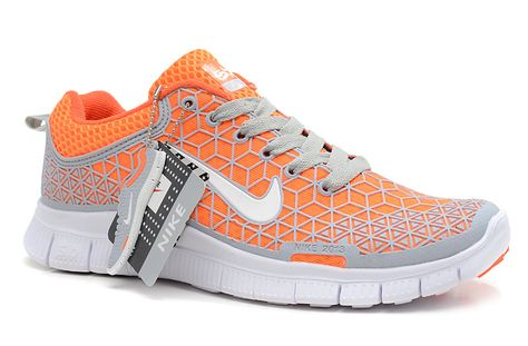 shades of new images of biggest discount Womens Nike Free 6.0 Soft Grey Total Orange White Shoes [Free Runs ...