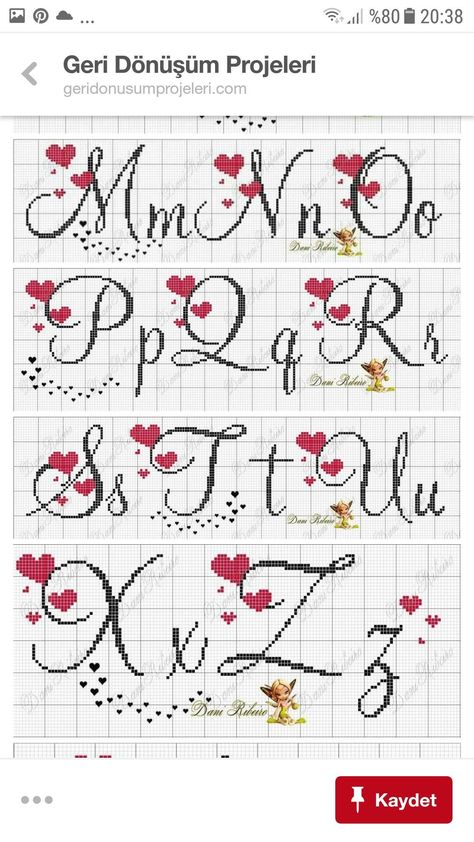 Punto cruz letras Punto cruz Simple Cross Stitch, Cross Stitch Alphabet, Perler Beads, Le Point, Stitches, Cross Stitch Letters, Cross Stitch Embroidery, Handmade Crafts, Towels