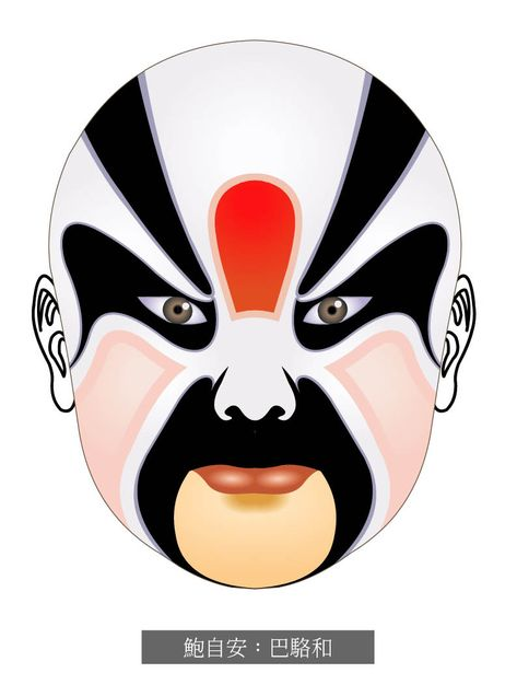 Chinese-Opera-Masks-BaLuoHe-BaoZiAn.jpg (794×1067)