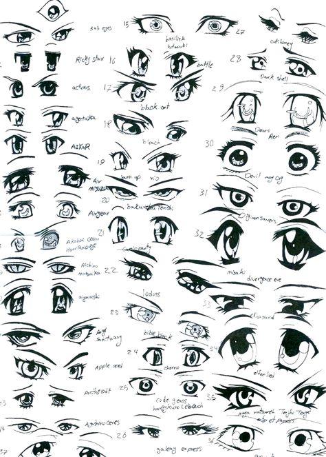 Imagem Por Yasmin1404 Gacha Videos Em Esbocos De Olhos Desenho