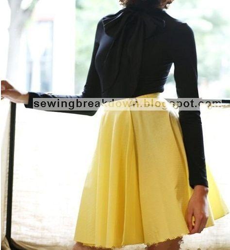 خياطة و تفصيل كيفية خياطة تنورة كلوش بالصور خطوة بخطوة Sewing Skirts Skirts Sewing