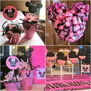 DIY Minnie Mouse decorations Brooklynns Bday Party Ideas